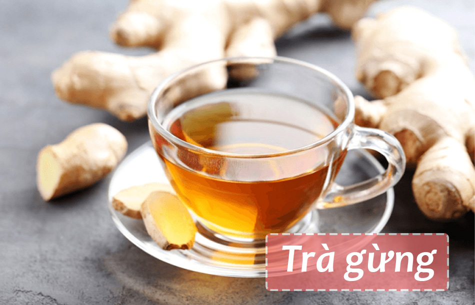Cải thiện cơn đau bụng kinh bằng trà gừng