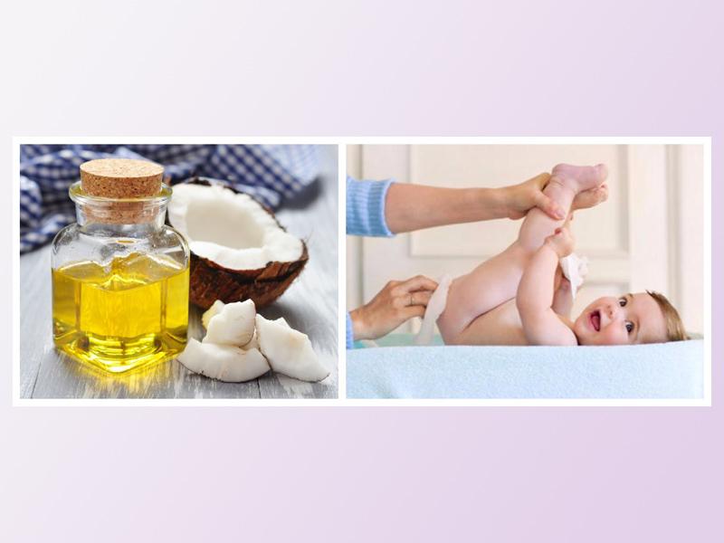Cách trị hăm cho trẻ sơ sinh bằng dầu dừa
