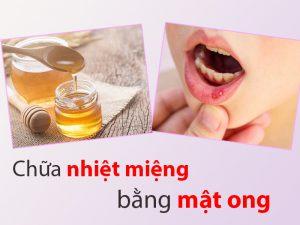 chữa nhiệt miệng bằng mật ong