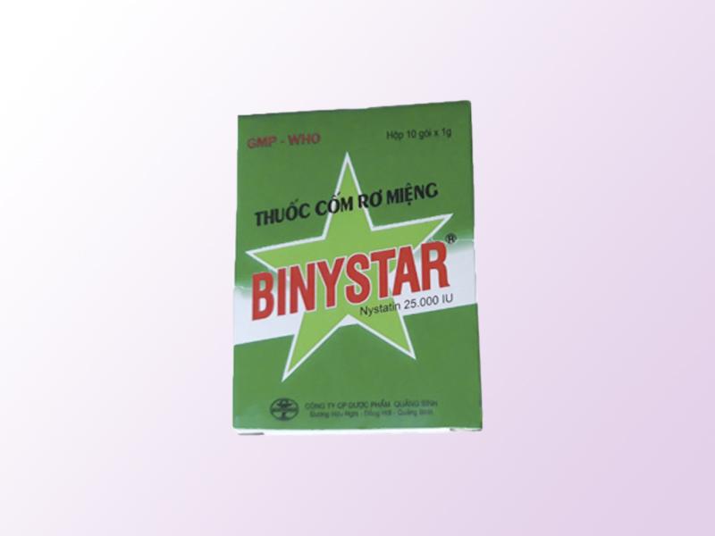 Thuốc cốm rơ miệng cho trẻ sơ sinh Binystar