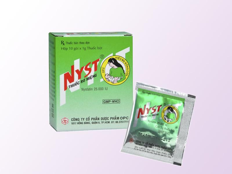 Thuốc rơ lưỡi cho trẻ sơ sinh Nyst