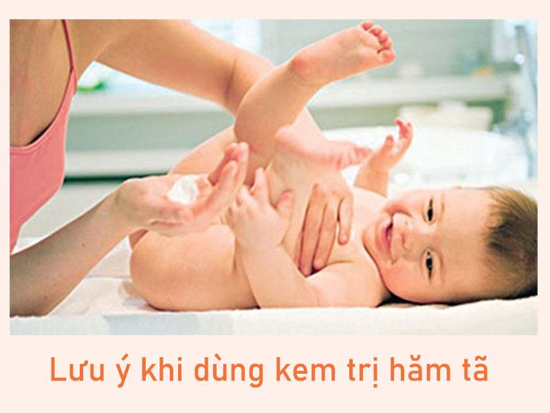 Lưu ý khi dùng kem trị hăm tã cho bé