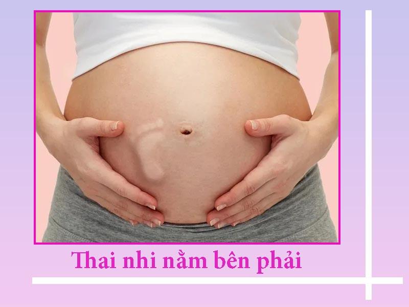 Thai nhi nằm bên phải