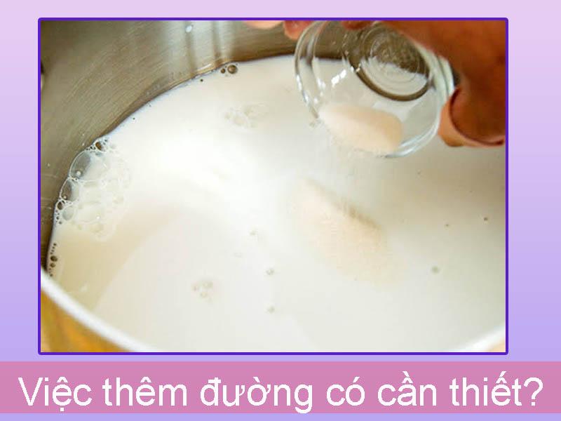 Không cần thêm đường vào sữa chua làm cho trẻ