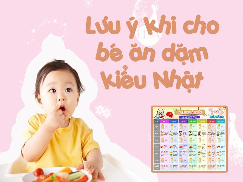 Lưu ý khi chế biến thức ăn cho bé 9 tháng tuổi